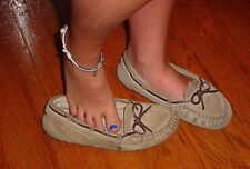 Used Well Worn Womens Shoes 8 Med. Flats Oxford Loafer Slip On Moccasin Leather
