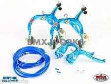 Dia-Compe MX1000 - MX128 - Tech-6 Bright Blue Brake Set Old Vintage School BMX