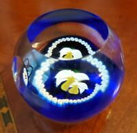 Caithness Art Glass Paperweight Miniature Narcissus Scotland Signed
