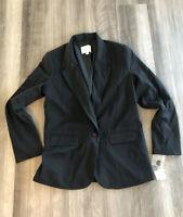 A New Day Black One Button Blazer Size 8 NWT Jacket