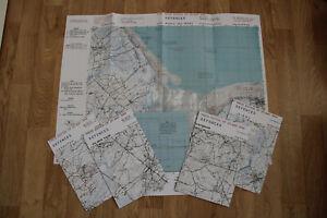Cartes BIGOT para us WW2 Normandie Utah Beach Sainte-Mére Eglise Carentan 1944