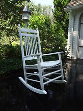 New listing Vtg Pottery Barn White Wooden Front Porch Patio Deck Garden Rocker Rocking Chair