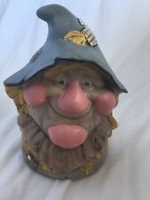 "Wizard of Oz Hand Painted Scarecrow Head Ceramic Fall Decoration 5 1/2"" Tall"