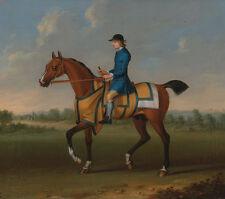 A Bay Racehorse with Jockey Up James Seymour Rennpferd Reiter Tiere B A3 00115