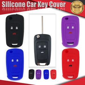 Silicone Car Key Cover Fits HOLDEN 3 Button Cruze Chevrolet Colorado Barina Aveo