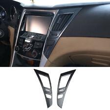 For Hyundai SONATA 2011-2014 carbon fiber central console air outlet vent trim