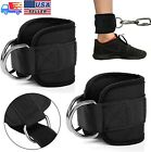 2Pcs Resistance Band D-ring Ankle Strap Leg Power Training Gym Fitness Equipment