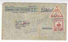 1957 Guayaquil Ecuador Commercial Registered Airmail to Panama Triangle