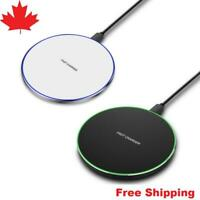 Qi Wireless Charger Charging Pad For Iphone Samsung Galaxy S8 S9 S10 iPhone X 11