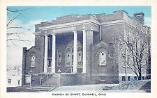 B74/ Caldwell Ohio Postcard Noble County c1940s Church of Christ Building 3