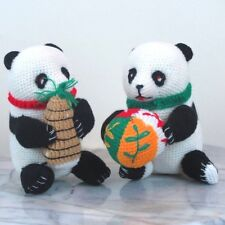 "Pair of Plush Panda Bears - about 4"" tall - Brand New"