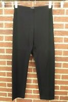 Eileen Fisher Womens Pants Size Small Black Slacks Elastic Waistband S