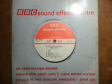 """BBC Sound Effects 7"""" Record - Telephone Confidence Tones 1985, Geiger Counters"""
