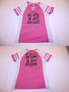 Women's Green Bay Packers Aaron Rodgers S Bling Jersey (Pink) Majestic