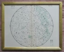 Framed map of Star Clusters by J. Gall Inglis c1950