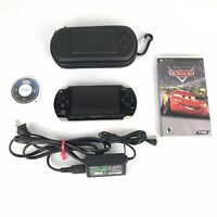 Sony PSP 1001 Console Bundle 2 Games MLB The Show Cars Case Charger New Battery