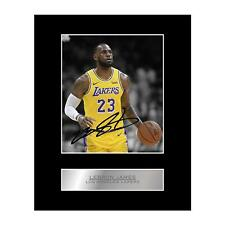 Lebron James Signed Mounted Photo Display Los Angeles Lakers #2