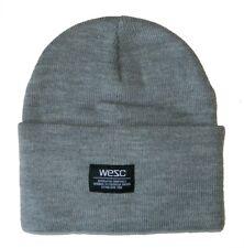 5ed82021911 Wesc Puncho Beanie Men s Unisex Street Hat Cap Grey Melange One Size New
