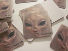 "COASTERS ROSWELL NM UFO ALIEN FACE ""SET OF 6"" AREA 51 SOUVENIR COLLECTIBLES #61"