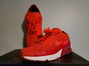 Nike Air Max 90 Ultra 2.0 Flyknit Red Athletic Shoes for Men ...