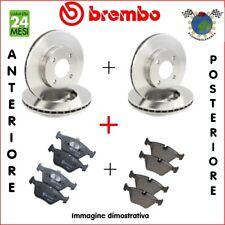 Kit Dischi e Pastiglie freno Ant+Post Brembo ALFA ROMEO 156 147 #eu