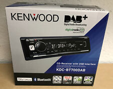 KENWOOD KDC-BT700DAB CAR CD USB DAB RADIO STEREO TUNER HEAD iPHONE BLUETOOTH