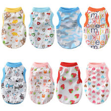 Male Dog Clothes Pet Summer Soft Jersey Apparel Girl Dog Clothing 100% Cotton