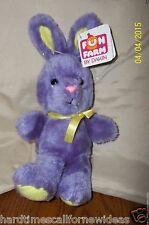 "Dakin Fun Farm Purple Rabbit Bunny Plush With Tag 10"""