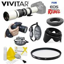PRO TELESCOPE ZOOM LENS 500MM + GRIP +UV FOR CANON EOS  T3 T3I T5 T5I T2 T6 7D
