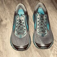 Brooks Ghost 10 Gray Blue Athletic Running Shoes Sneakers Women's Size 9