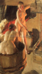 ANDERS ZORN WOMEN BATHING IN THE SAUNA ARTIST PAINTING REPRODUCTION HANDMADE OIL