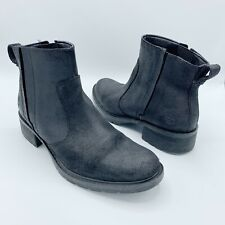 Timberland Womens Sz 8.5 US 39.5 EU Black Waxed Suede Leather Ankle Boots