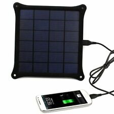Portable 5V 5W Solar Panel Battery Charger USB Power Bank Pack For Phone