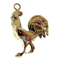 GOLD COCKEREL CHARM.  HALLMARKED 9 CARAT GOLD COCKEREL or ROOSTER CHARM