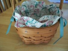 Longaberger Lily of the valley flower basket combo Grandma Bonnie May series