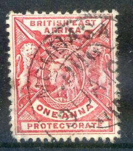 British East Africa 1896-1901 R4 carmine-lake fine used (2018/11/17#06)