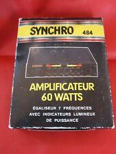 VINTAGE SYNCHRO 484 amplificateur egaliseur 60 watts CLASSIC CAR