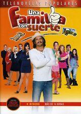 UNA FAMILIA CON SUERTE - TELENOVELA - 4 DVDS -  BRAND NEW - LATIN