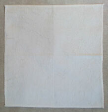 QUALITY HANKIE HANDKERCHIEF GENTLEMANS TOP POCKET SQUARE CRUSHED IVORY WHITE