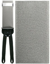 Imperia Silver Silk Tuxedo Suspenders