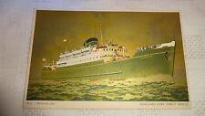 M V Innisfallen - Fishguard / Cork Art Postcard c1950