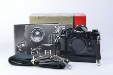 EXC+++ CANON A-1 BODY w/CANON A2 WINDER, VERY CLEAN AND TESTED, BOXED