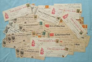 Nice Lot of Old Checks From  Pennsylvania Banks 1860's -1890's
