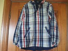 Gap age 8 Check Cagoul Raincoat Brand New Without Tags Small Pen Line on Label