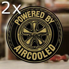 2x pezzi powered by Aircooled Sticker Adesivo COCINELLE Cox MAGGIOLINO BUG BUS ORO