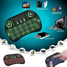 2X LED Backlight Mini Wireless 2.4GHz Keyboard Remote Control Touchpad for PC TV