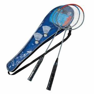 2 BEST Badminton Schläger 5-tlg, Set Badmintonschläger Federball Federballspiel