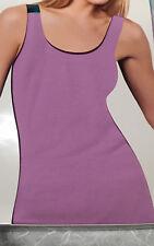 New Woman Tank Top Cotton stretch Built in Self Bra ~ Size : S M L XL