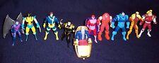"""Toybiz 1994 Steel Mutants X-MEN 2.75"""" Diecast Metal Figures - Apocalypse LOT 10"""