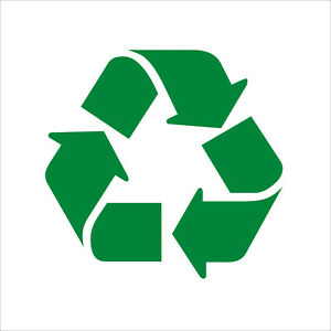 Recycle recycling logo symbol vinyl decal stickers UNIVERSAL RECYCLING SYMBOL